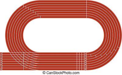 轨道, 跑, 体育场