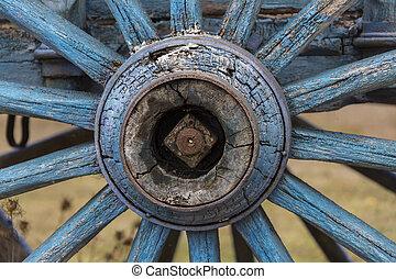 轮子, 老, 车