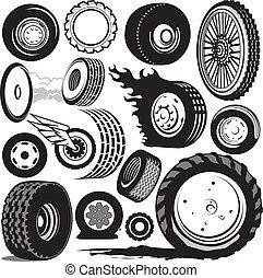 轮胎, 收集