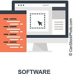 软件, 概念, 图标