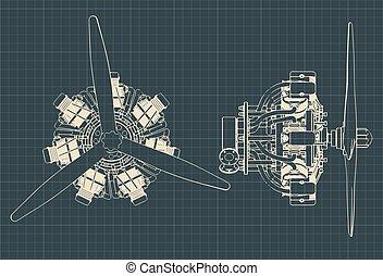 辐射状, 蓝图, 引擎
