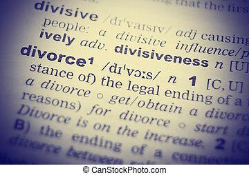 辞書, 定義, の, ∥, 単語, divorce., イメージを強くした
