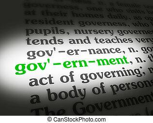 辞書, 政府