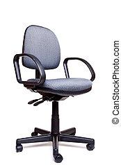 辦公室, 轉椅, 邊, 面對, 白色 背景