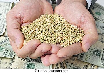 農事産業, ドル, 紙幣, 種, ダッタンソバ, 描写