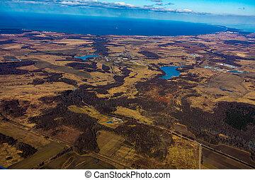 農地, 空中写真, ∥において∥, 秋