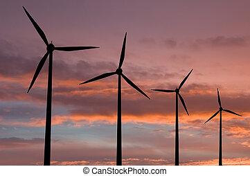 農場, エネルギー, エコロジー, タービン, 風