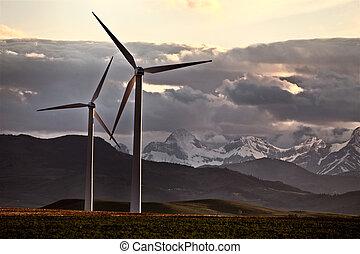 農場, カナダ, 風