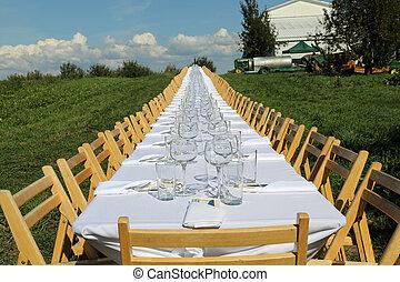 農場, テーブル, 形式的
