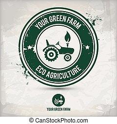 農場, 切手, 選択肢, 緑
