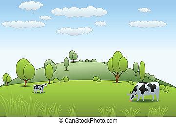 農場, 牛
