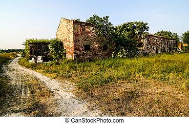 農場, 田園, 古い