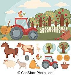 農場, 農場。, 集合, 圖象