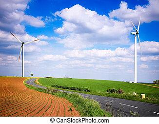 農場, 風