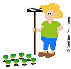 農夫, 干し草用フォーク