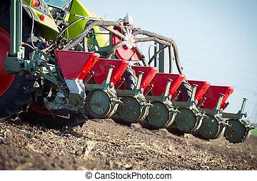 農夫, 播種, 庄稼, 在, 領域
