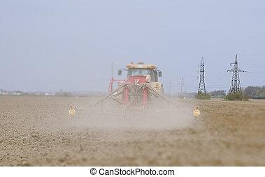 農夫, 播種