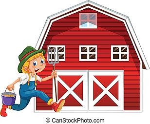 農夫, 納屋