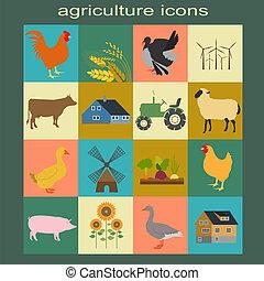 農業, セット, 動物飼育