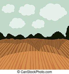 農業, デザイン, 風景