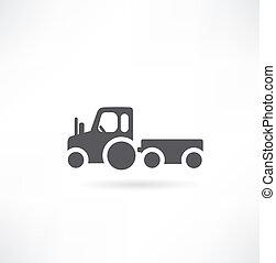 農業, ベクトル, トラクター