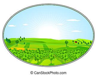 農業, 区域