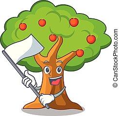 農業, 旗, 木, アップル, 漫画