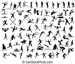 运动, 图标
