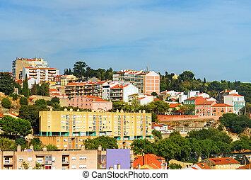 近所, 中に, ∥, 中心, の, リスボン, city.