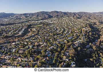 近所, 太平洋, アンジェルという名前の人たち, los, カリフォルニア, palisades, 航空写真