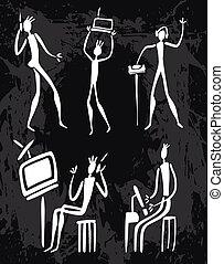 进化, 技术, 人类, 人