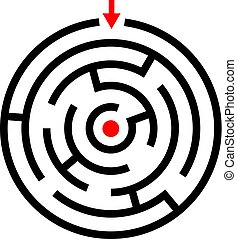 迷宮, 游戲, 矢量, 圖象