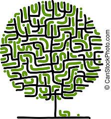 迷宮, 設計, 你, 樹