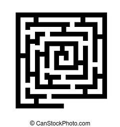 迷宮, 黑色, 圖象