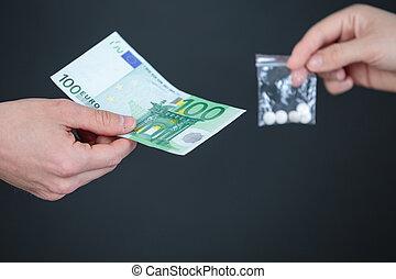 迷戀者, 由于, 錢, 購買, 劑量, 從, 經銷商
