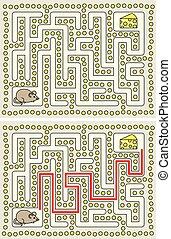 迷路, マウス, 容易である