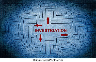 迷路, 概念, 調査