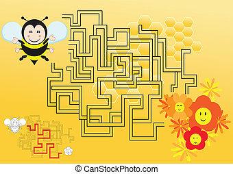 迷路, 蜂
