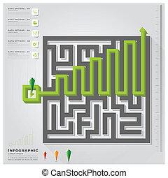 迷路, infographic, デザイン, ビジネス, テンプレート