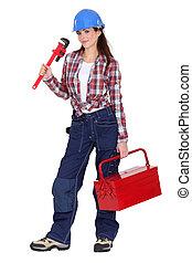 迷,  diy, 女性,  tool-kit