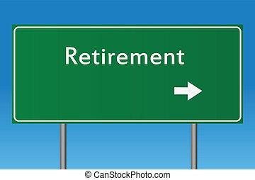 退休, 签署