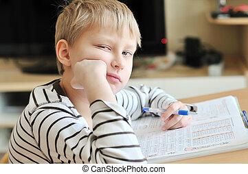 退屈すること, 宿題