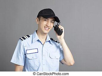 送信機, ポータブル, 監視, ラジオ, 使うこと, セキュリティー, マレ