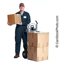 送貨人, 由于, pacages.