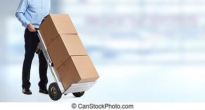 送貨人, 由于, parcels.