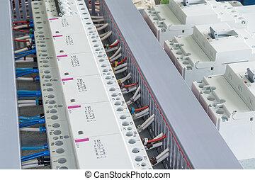 送電線, いくつか, 卵を生む, ブレーカ, モジュール式である, contactors., 回路, いくつか, ケーブル, チャンネル