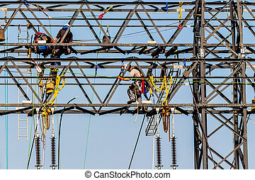 送電線, そして, 電気, パイロン