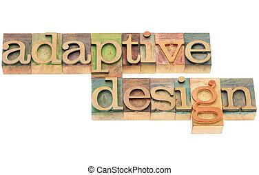 适應, 設計, 在, 木頭, 類型