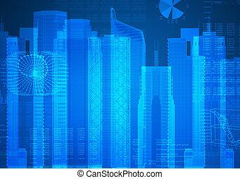 透明, 定型, 超高層ビル