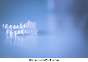 透明, 歯医者の, 歯列矯正術